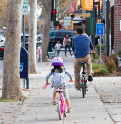 Cupertino Youth along with Parents can ride on Sidewalks
