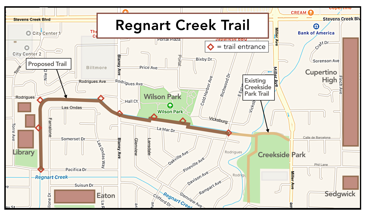 Local Residents Speak out in Support of the Proposed Regnart Trail