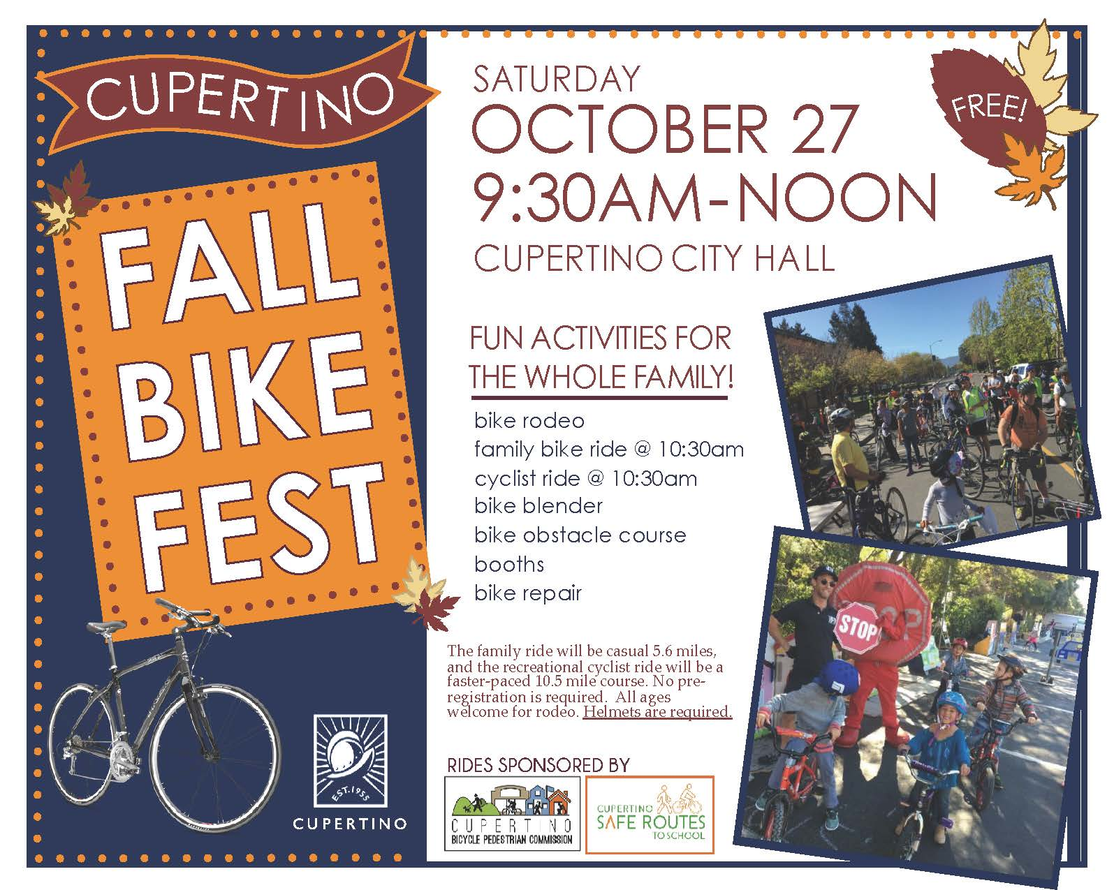 Cupertino Fall Bike Festival This Saturday, October 27th