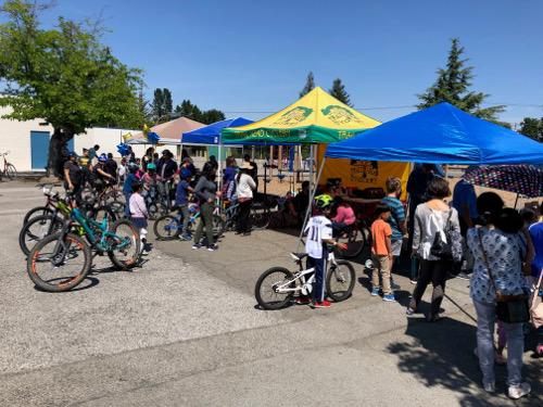 Stevens Creek Elementary Bike Rodeo