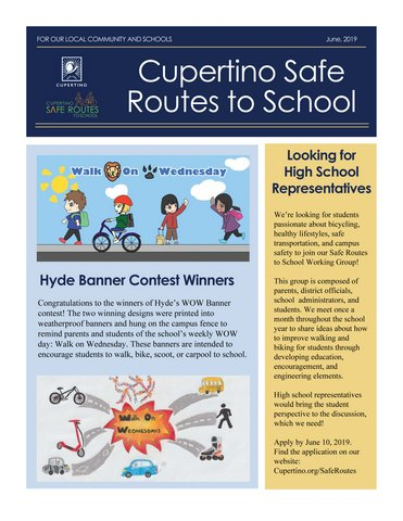 Safe Routes June Newsletter