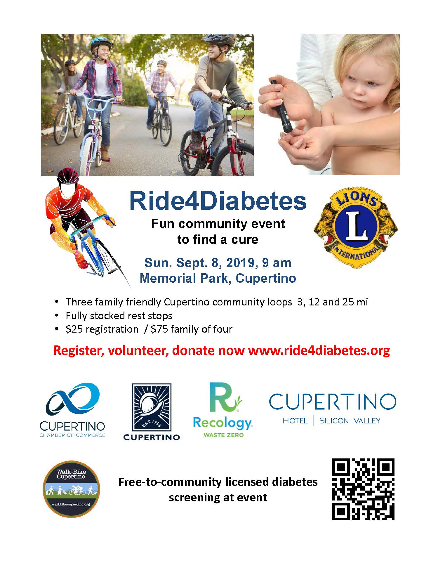 Cupertino:  Ride 4 Diabetes!