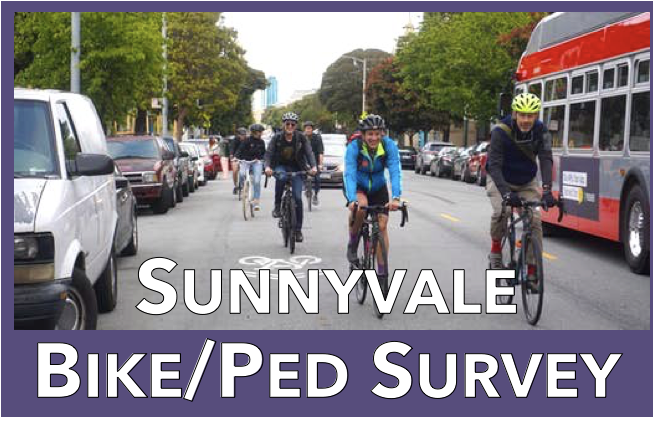 Don't miss your chance to give input into Sunnyvale's Walk/Bike Survey