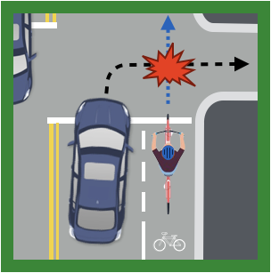 "Cyclists and Motorists: Avoid a ""Right Hook"" on McClellan Road"
