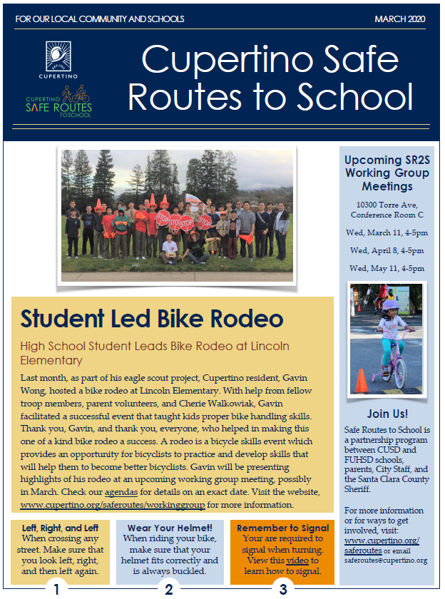 Safe Routes to School March newsletter