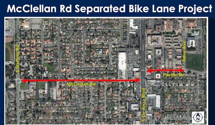 McClellan protected bike lanes east of Stelling break ground August 3