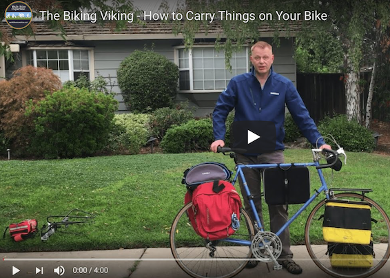The Biking Viking – How to Carry Things on Your Bike