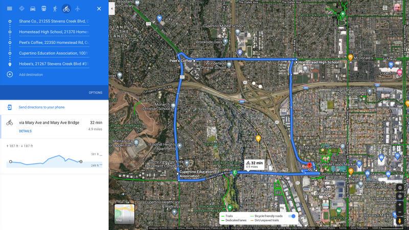 The Mary Bridge Loop Ride Map