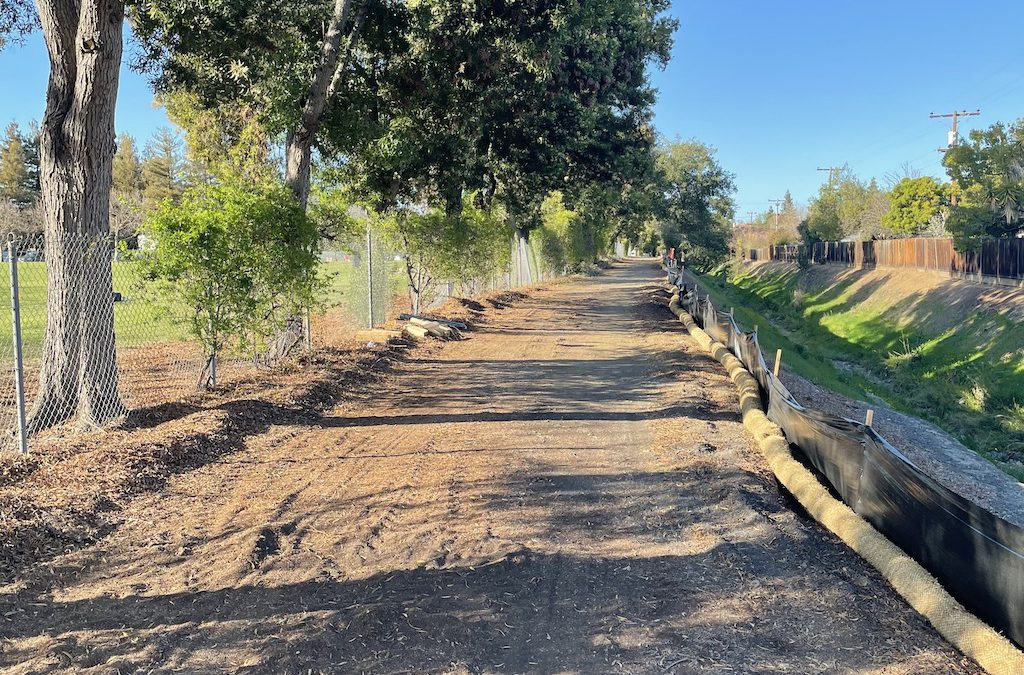 Construction starts on Regnart Trail: First Pics
