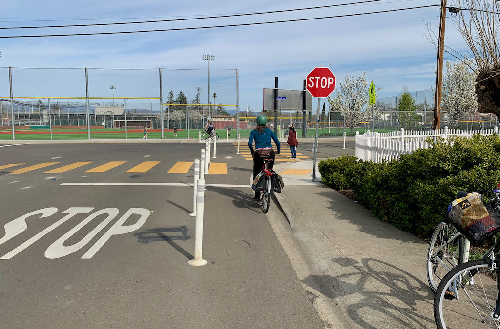Video: Walkers and cyclists going to Cupertino High see big changes
