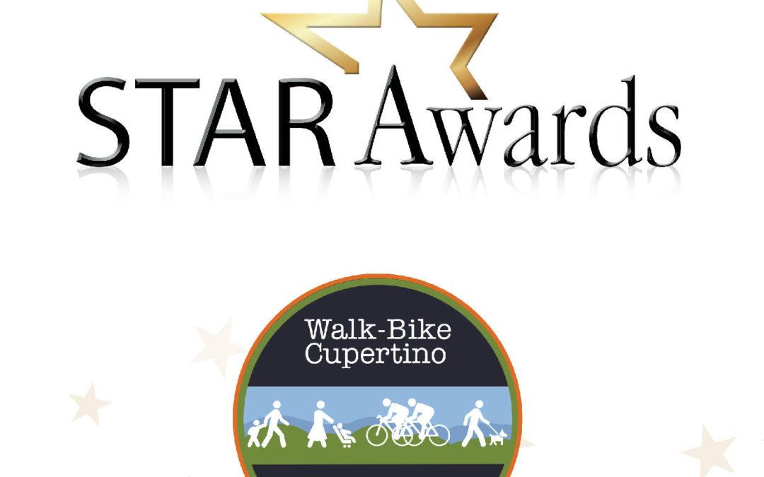 "2021 STAR Awards: Walk-Bike Cupertino Honored ""Non-Profit of the Year"""