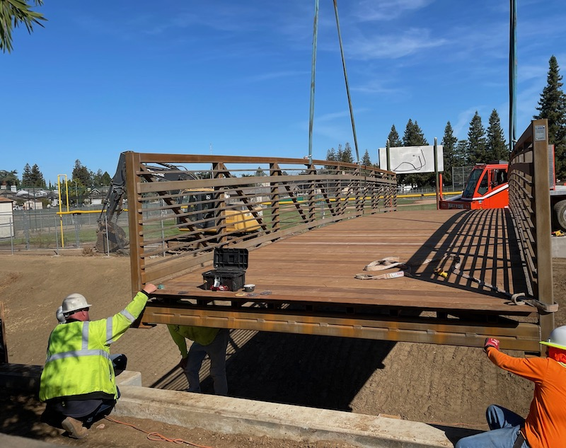 The Regnart Creek Trail bridge is Installed: First Look
